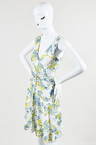 Roberto Cavalli short dress Multi-Color White Blue on Tradesy