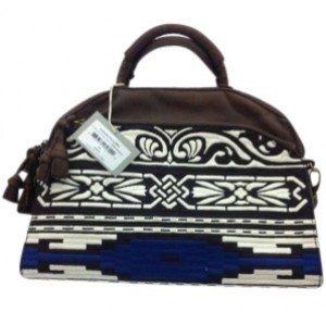 Isabella Fiore Graffiti Culture Grace 122022h Navy Ivory Satchel in Brown/Burgundy