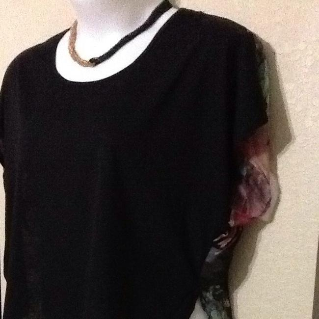 Charlotte Russe Top Black / Multi Floral