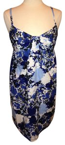Ann Taylor LOFT short dress Blue White Size 12p on Tradesy