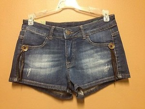 United Colors of Benetton Blue Micro Cut Off Shorts Denim