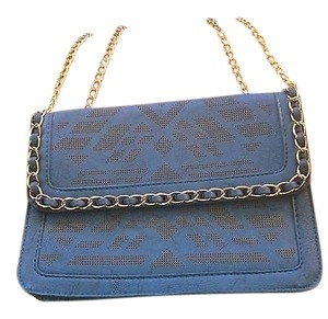 Yoki Faux Leather Double Chain Shoulder Bag
