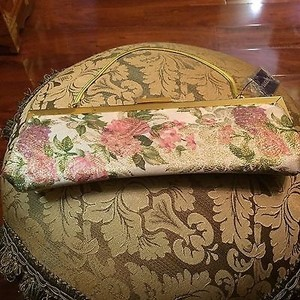 Bakers Floral Embroidered Mini Multi-Color Clutch
