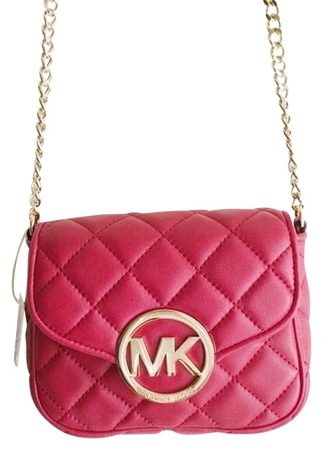 Item - Fulton Quilted Red Leather Cross Body Bag