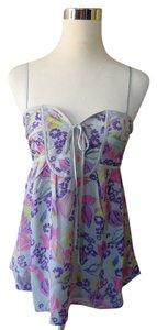 Yumi Kim Floral Hot Pink Babydoll Top Gray