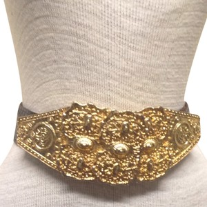 Alexis Kirk Alexis Kirk Snake Skin And 18kt Gold Plated Belt
