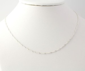 Rope Chain Necklace 16 - Sterling Silver Italy Twist 1.5mm