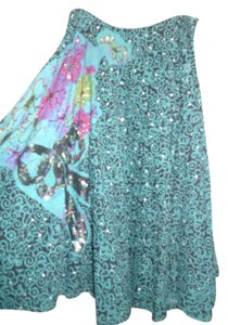 Monica Paris Maxi Skirt Teal