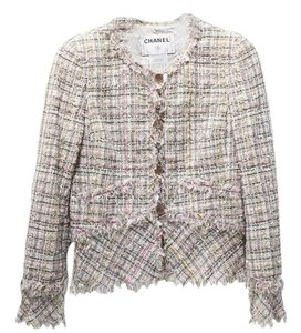 Chanel Amazing Chanel Pastel Multi-color Fancy Tweed Jacket Blazer Size 38