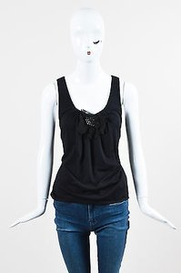 Vera Wang Embellished Top Black