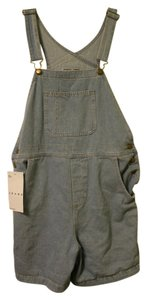 American Apparel Aa Overalls Denim Shorts-Light Wash