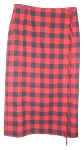 Liz Claiborne Skirt Red Check