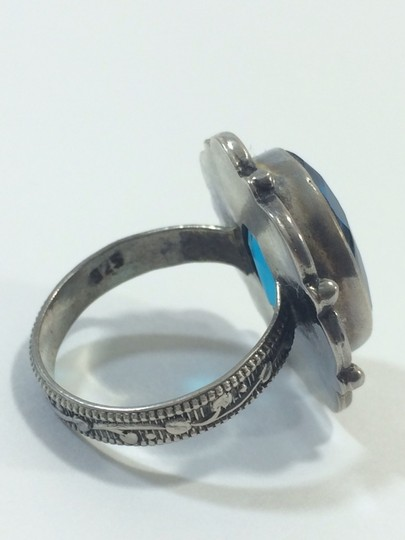 unknown Sterling silver blue Topaz ring