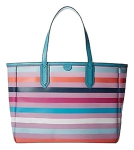 Fossil Sydbey Bright Stripe Tote in Multi Color