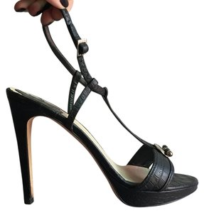 Dior Christian Heels Black Platforms