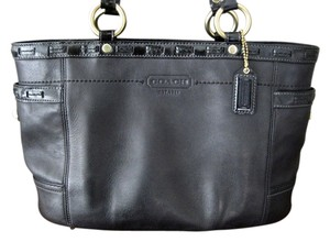 Coach Turnlock Glove Leather Tote
