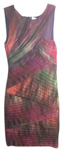 BCBGMAXAZRIA Bodycon Tiered Sheath Dress