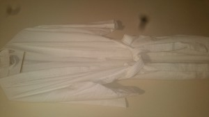 white Maxi Dress by bath robe