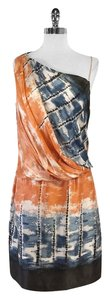Robert Rodriguez short dress Orange Blue Silk Sleeveless on Tradesy