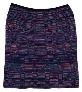 Missoni Multi Color Metallic Knit Skirt