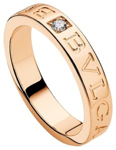BVLGARI Bvlgari 18K Rose Gold Diamond Ring AN854185 US 6.5