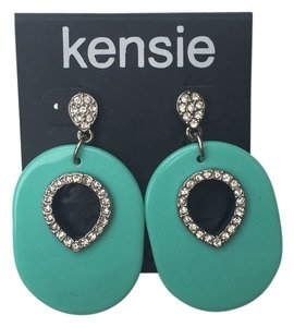 Kensie Turquoise Lacquer Earrings Dangly