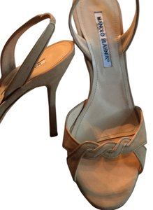 Manolo Blahnik Tan, camel Sandals