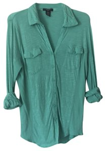 Verve Ami Button Down Shirt Mint Green