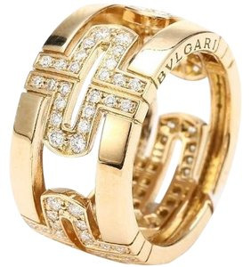 BVLGARI Bvlgari 18K Yellow Gold Diamond Ring AN854230 US 6.5