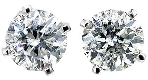 ABC Jewelry Brilliant Cut Diamond Earrings