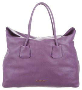 Burberry Leather Spring Summer Tote in Purple