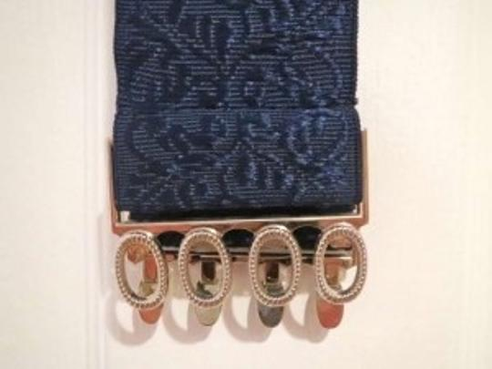 Urban Outfitters Blue elastic belt with embroidered detail