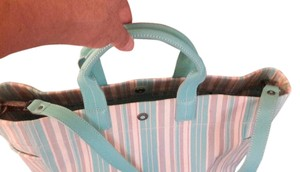 Tiffany & Co. additional pics of Lindy stripe canvas and Leather Tote Bag.