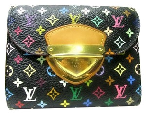 Louis Vuitton Authentic Louis Vuitton Multicolore Monogram Noir Koala Wallet w/ Grenade Interior