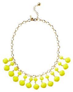 Kate Spade Kate Spade New York Yellow Bead Double Drop Necklace