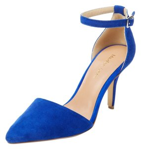 Maiden Lane Blue Blue Suede 3