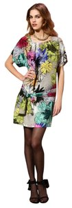 Ali Ro Silk Shift Print Dress