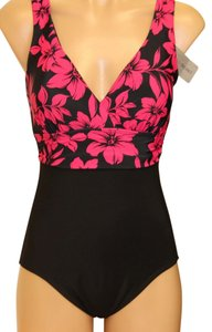 Tropical Honey EZ8035008 Tropical Honey One piece Slimming / Bust Enhancing swim suit sz 10. PIINK Floral. multi black