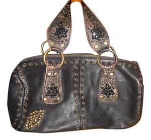 Betsey Johnson Satchel in Dark Brown
