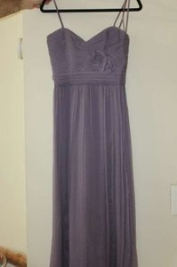 Amsale Violet Chiffon Modern Bridesmaid/Mob Dress Size 2 (XS)