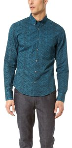 Opening Ceremony Button Down Shirt Multicolor Cerulean