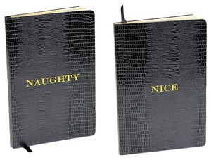 D.L.& Co. Black 'Naughty/Nice' Large Journal