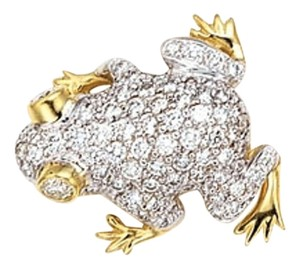 DiamondStunning Frog Brooch