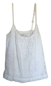 Abercrombie & Fitch Lace Layering Top White