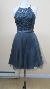 Mori Lee Chacoal Tulle 135 Formal Bridesmaid/Mob Dress Size 10 (M)