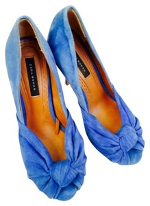 Zara Suede Blue Suede Greissimo Christian Louboutin Blue Teal Pumps