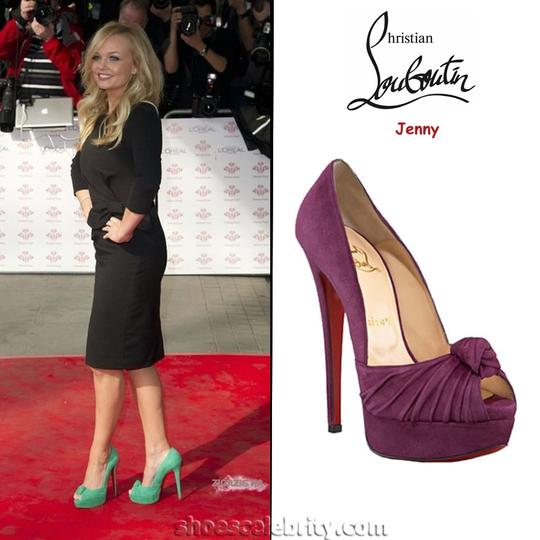Zara Suede Suede Greissimo Christian Louboutin Blue Teal Pumps