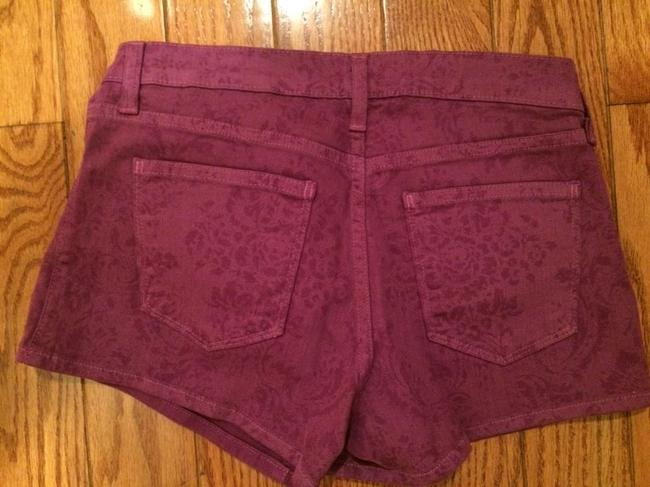Just Black Purple Floral Denim Jeans Button Summer Spring Fall Brand Cute Shorts