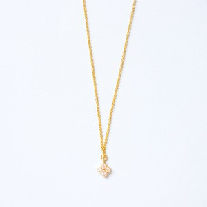 Minimal Jewels Gold,Plated,Clover,Cubic,Zirconia,Pendant,Necklace