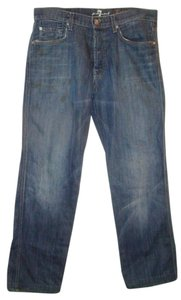 7 For All Mankind Sfam A Pocket Boot Cut Jeans-Medium Wash